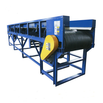 rubber belt movable conveyor for carton, coal etc.
