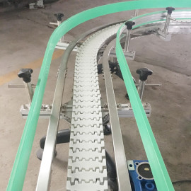food and beverage automatic production line flexlink chain conveyor