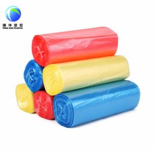 Bolsa de basura desechable de plástico en rollo