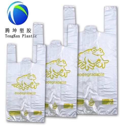 Bolso plástico de encargo impreso de la camiseta en rollo