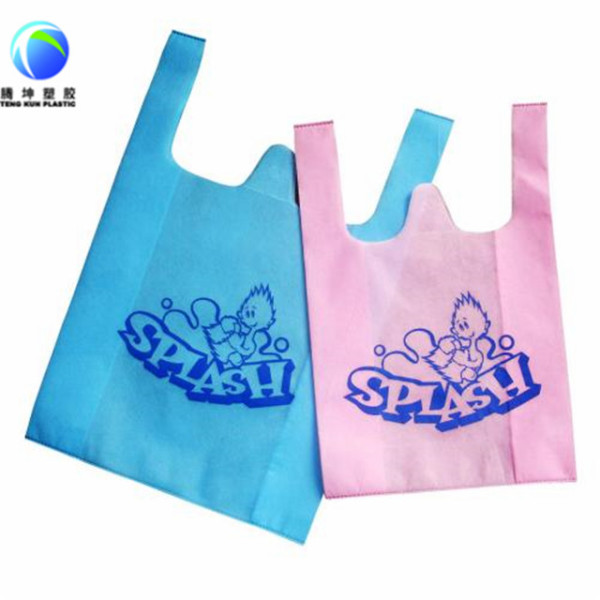 Custom Printed Packaging Plastic T-shirt Bag in Roll