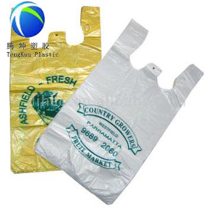 Custom Printed Packaging Plastic T-shirt Bag in Roll