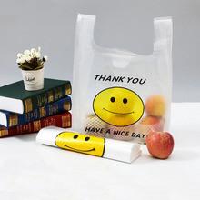 ابتسامة الوجه البلاستيك تي شيرت حقيبة