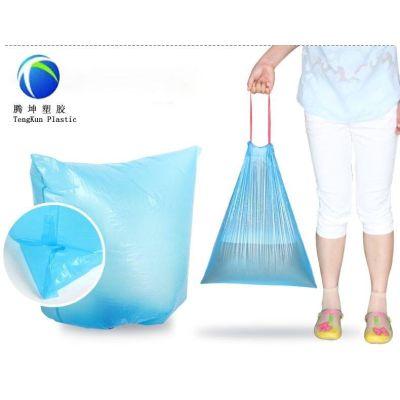 Bolsas de basura desechables de plástico con cordón en rollo