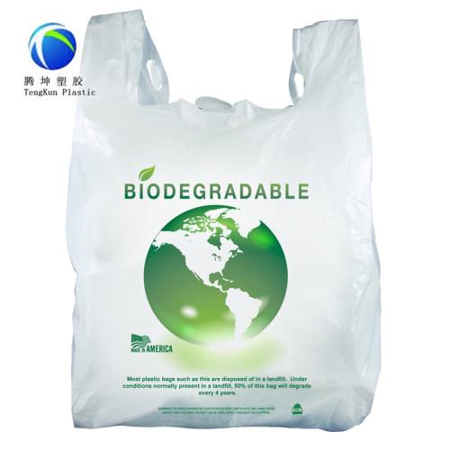 옥수수 전분 100 % 생분해 성 플라스틱 가방