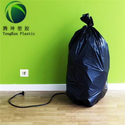 الثقيلة 42 جالون المقاول الأسود أكياس القمامة البلاستيكية