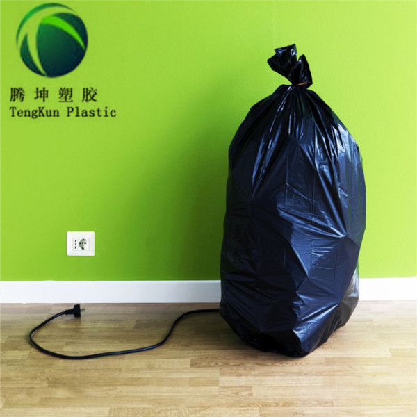 Heavy Duty 42 Gallon Black Contractor Plastic Garbage Trash Bags