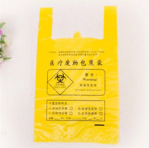 Trash Bin Liner Bags Biohazard Waste Plastic Medical Garbage Bags