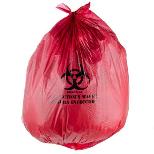 Cubo de basura Bolsas de basura Bolsas de basura médica de plástico de residuos biológicos