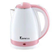 China manufacturer beautiful appearance big capacity stainless steel plastic cordless 360 degree rotation electric kettle