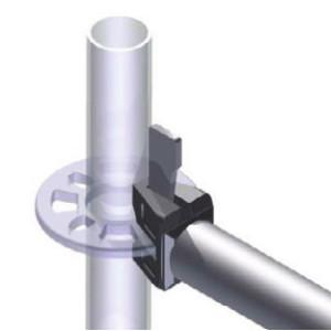 Q345 Q235A B 3.2-3.25mm thickness ringlock scaffold / allround scaffolding