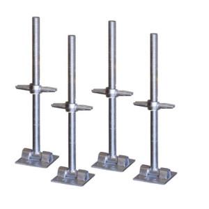 Scaffolding adjustable screw jack with swivel base plate/Adjustable hollow U-head steel scaffolding screw jack