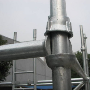 excellent quality indoor/outdoor scaffolding Q235B/Q345B material cuplock standard and ledger