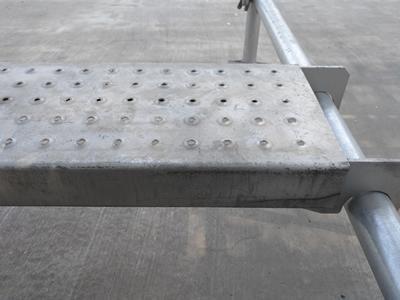 Q235 HDG galvanizado por inmersión en caliente andamios Cuplock