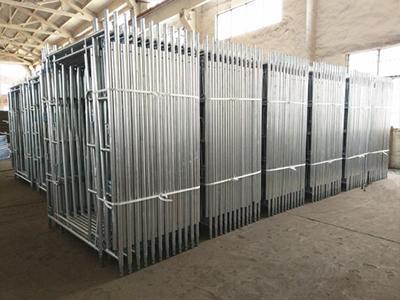 Color personalizado metal un marco sistema de andamios para la venta