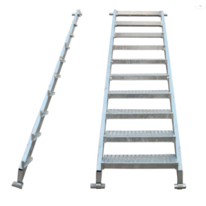 Construction Material step ladder Ringlock Scaffolding Steel Staircase