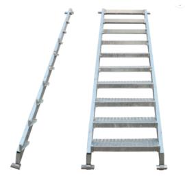 建筑材料梯子Ringlock脚手架钢楼梯