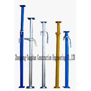 Adjustable Strong Loading Capacity Hot Dipped Galvanized Scaffold Steel Prop For Construction