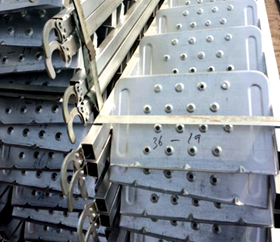 Q235 Metal Perforated Scaffold Parts Steel Plank with Hooks for construction