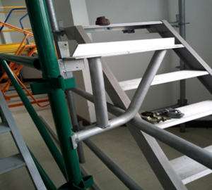 scaffolding Kwikstage scaffolds for building and constructions with painted surface treatment