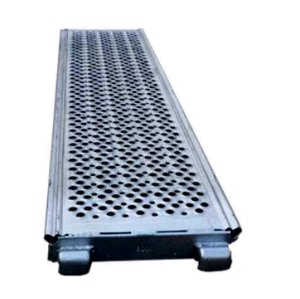 320mm width customized length Q235 steel plank with hook