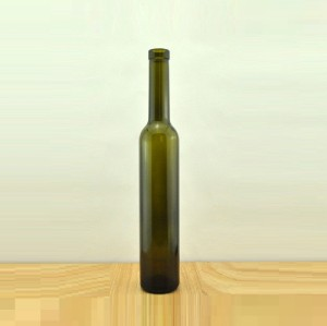 375ml ice wine bottle in antique green color