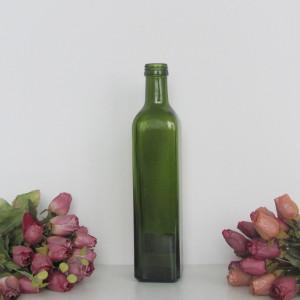 500ml 0.5L dark green olive oil glass bottle for sale