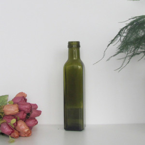 250ml dark green olive oil glass bottles and cooking olive oil bottles