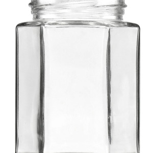 300ML FlINT HEXAGONAL GLASS JAM JARS
