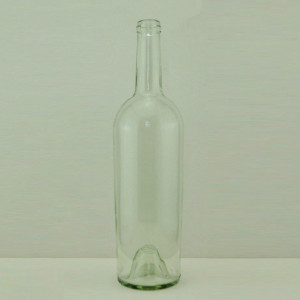 75cl Broad-shouldered bordeaux wine glass bottle