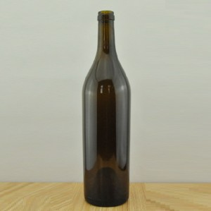 750ml Bordeaux Glass Wine Bottle with Cork finish 750cc Wine Bottle