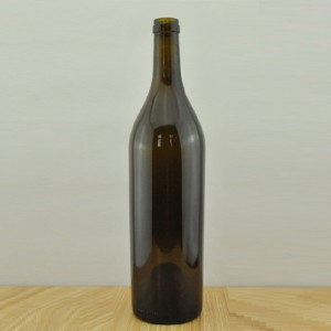 750ml Bordeaux Glass Wine Bottle with Cork finish 750cc Wine Bottle