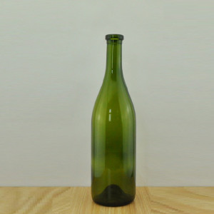 750ml flange top glass wine bottle with cork
