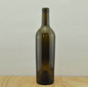 750ml Bordeaux Glass Wine Bottle Heavy Glass Wine Bottle premium wine bottle