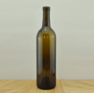 cork finish wine bottle 750ml  antique green color