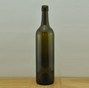 750ml empty wine bordeaux glass bottles