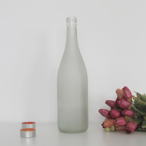 High quality 750ml BVS finish clear burgundy wine bottle in stock