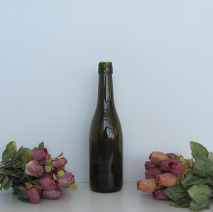 375ml glass wine bottle/ screw top burgundy wine bottle/ Competitive glass bottle price in china #2147 mini wine bottles