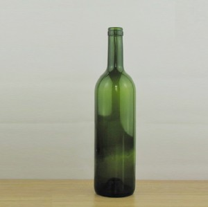 750ml red wine bottle empty bordeaux glass bottle