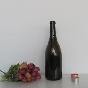 Antique green 750ml empty wine glass bottles Screw Cap Sealing Type glass bottles Red wine glass bottles