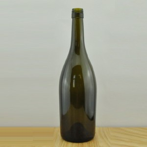 750ml burgundy wine bottle Antique green