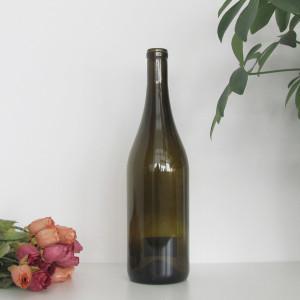 750ml Glass Wine Bottle Burgundy Wine Bottle Flat Base Burgundy wine bottles