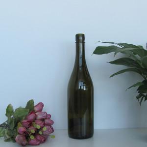 750ml burgundy wine glass bottle with BVS finish