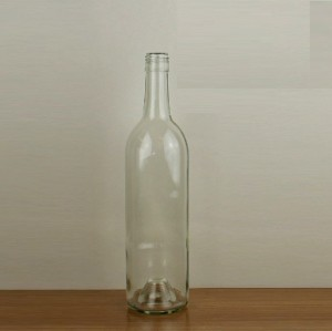 Safty bordeaux glass bottles china manufacturer