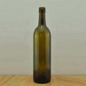 empty 750ml screw top claret/bordeaux wine bottle in china