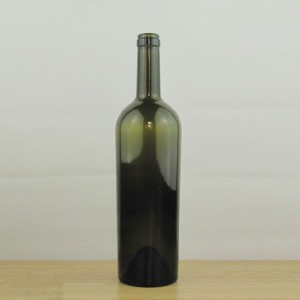 WINE BOTTLE 750 ml tapered claret/bordeaux wine bottle in china