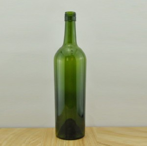 750ml Glass Wine Bottle Tapered Stelvin Finish BVS Top Dark Green Wine Bottle