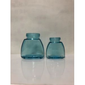 High quality 200ml blue wide mouth glass jar