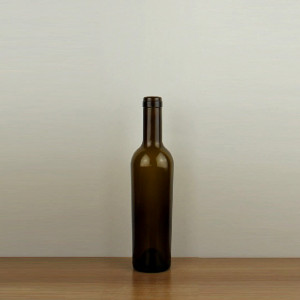 Taper empty glass bottles Glass material red wine bottles from China 375ml taper red wine bottles