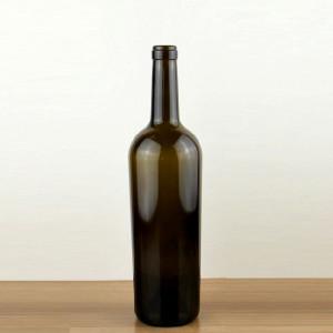 750ml tapered glass wine bottle wholesale/cork sealing type wine use glass bottle